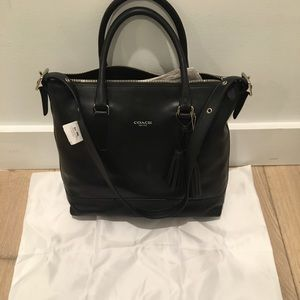 NWT coach purse, Heritage Rory, black leather